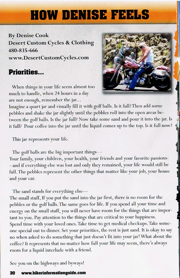 Desert Customs Cycles Articles - Priorities